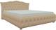 Полуторная кровать Mebelico Герда 27 / 58380 (экокожа, бежевый) -