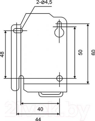Контактор КС КМ-22510 25А 1НО 110В - Установочные размеры