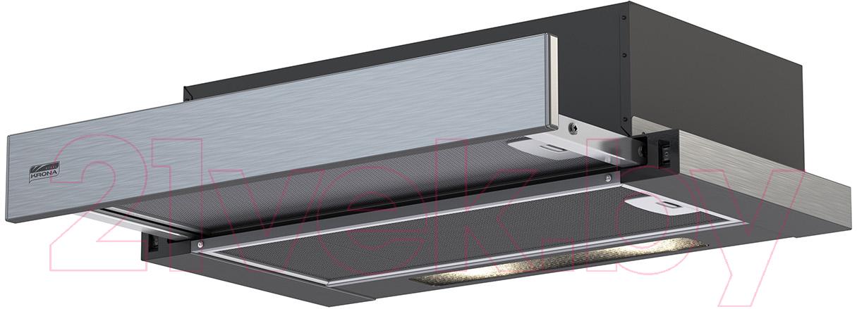 Купить Вытяжка телескопическая Krona, Kamilla R 600 2m / 00022869 (нержавеющая сталь), Турция