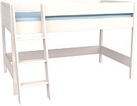 Кровать-чердак ММЦ Сиело 77303 (белый воск) -
