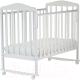 Детская кроватка СКВ Митенька / 160111 / 160411 (белый) -