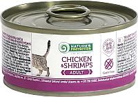 Корм для кошек Nature's Protection Adult Cat Chicken & Shrimps / KIK45098 (100г) -
