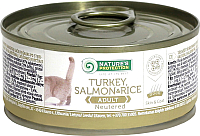 Корм для кошек Nature's Protection Cat Neutered Turkey, Salmon & Rice / KIK24527 (100г) -