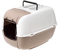 Туалет-домик Ferplast Prima Cabrio / 72053899 (серый) -