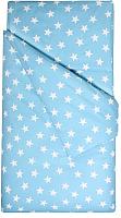 Комплект постельного белья Martoo Comfy B 1.5 / 1.5CMB-B-3-BSTRBL (бязь, крупные звезды на синем) -
