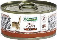 Корм для кошек Nature's Protection Adult Cat Beef & Lamb / KIK45099 (100г) -