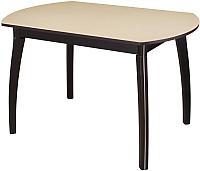 Обеденный стол Домотека Румба ПО 70x110-147 (бежевый/венге/07) -