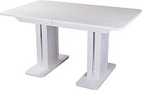 Обеденный стол Домотека Альфа ПР-2 (белый/белый/05) -