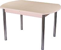 Обеденный стол Домотека Румба ПО 70x110-147 (бежевый/молочный дуб/02) -