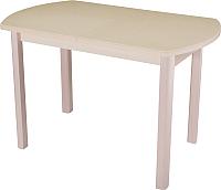 Обеденный стол Домотека Румба ПО 70x110-147 (бежевый/молочный дуб/04) -