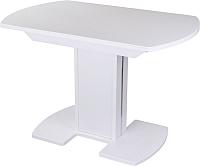 Обеденный стол Домотека Румба ПО 80x120-157 (белый/белый/05) -