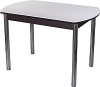 Обеденный стол Домотека Румба ПО 80x120-157 (белый/венге/02) -