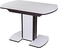 Обеденный стол Домотека Румба ПО (белый/венге/05) -