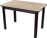 Обеденный стол Домотека Румба ПР 70x110-147 (бежевый/венге/04) -