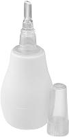 Аспиратор детский BabyOno 043 с пластиковым наконечником (белый) -