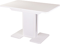 Обеденный стол Домотека Румба ПР 70x110-147 (белый/белый/05) -