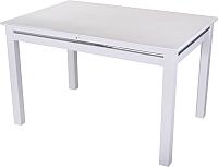Обеденный стол Домотека Самба 70x110-147 (белый/белый) -