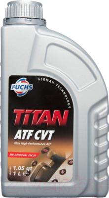 Трансмиссионное масло Fuchs Titan ATF CVT / 600546878 (1л, желтый)