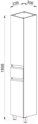 Шкаф-пенал для ванной АВН Фиджи 35 / 61.34