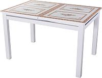Обеденный стол Домотека Вальс 70x110-147 (ст-72/белый) -