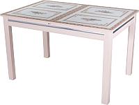 Обеденный стол Домотека Вальс 70x110-147 (ст-72/молочный дуб) -