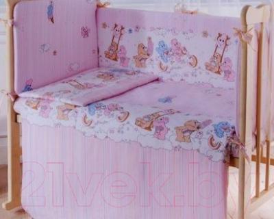 Простыня детская Баю-Бай Забава ПР15-З1 (розовый)
