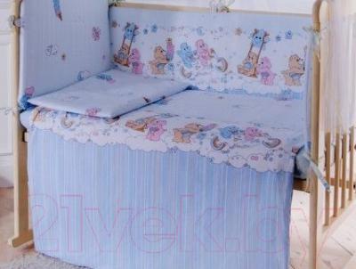 Простыня детская Баю-Бай Забава ПР15-З4 (голубой)