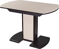 Обеденный стол Домотека Танго ПО 80x120-157 (кремовый/венге/05) -
