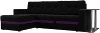 Диван угловой Mebelico Атланта М 500 левый / 58794 (вельвет, черный) -