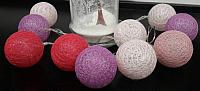 Тайские фонарики Подари 61001 (6/красный/сиреневый/розовый) -