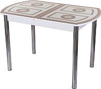 Обеденный стол Домотека Танго ПО 80x120-157 (ст-71/белый/02) -