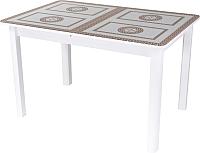 Обеденный стол Домотека Танго ПО 80x120-157 (ст-71/белый/04) -