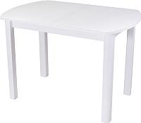 Обеденный стол Домотека Танго ПО 80x120-157 (белый/белый/04) -