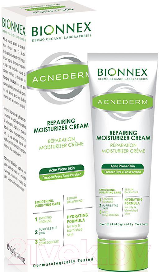 Купить Крем для лица Bionnex, Acnederm восстанавливающий увлажняющий для кожи склонной к акне (30мл), Турция