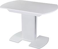 Обеденный стол Домотека Танго ПО 80x120-157 (белый/белый/05) -