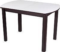 Обеденный стол Домотека Танго ПО 80x120-157 (белый/венге/04) -