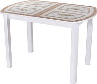 Обеденный стол Домотека Танго ПО 70x110-147 (ст-72/белый/04) -