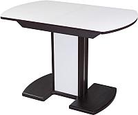 Обеденный стол Домотека Танго ПО 80x120-157 (белый/венге/05) -