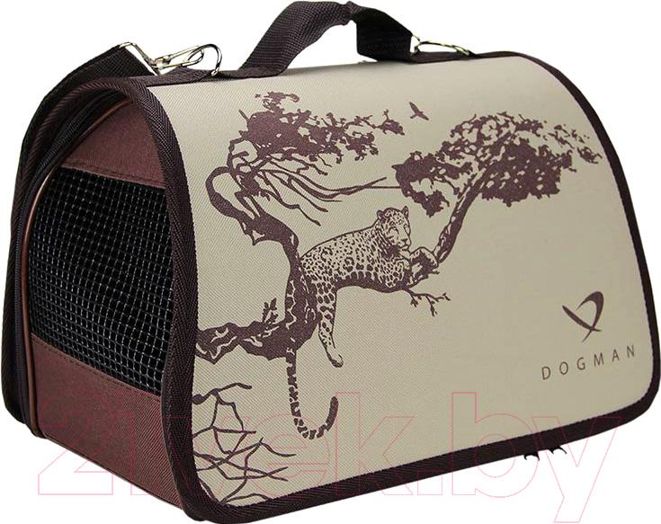 Купить Сумка для животных Dogman, Лира №2 D76 (сафари бежевый), Россия, животные принты, пластик