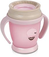 Поильник Lovi 360° Retro baby / 1/583new (210мл, розовый) -