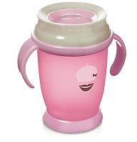 Поильник Lovi 360° Retro baby / 1/589new (250мл, розовый) -