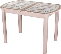 Обеденный стол Домотека Танго ПО 70x110-147 (ст-72/молочный дуб/04) -