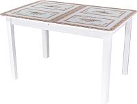 Обеденный стол Домотека Танго ПР 70x110-147 (ст-72/белый/04) -