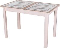 Обеденный стол Домотека Танго ПР 70x110-147 (ст-72/молочный дуб/04) -
