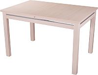 Обеденный стол Домотека Твист 70x110-147 (молочный дуб) -