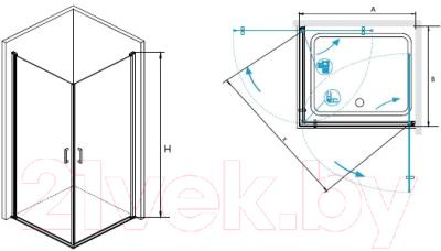 Душевой уголок RGW LE-30 Easy / 06123000-11