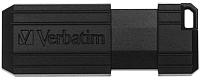 Usb flash накопитель Verbatim PinStripe Store 'n' Go 64GB / 49065 (черный) -