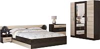 Комплект мебели для спальни Ricco Уют (сонома) -