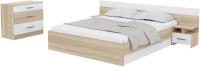 Комплект мебели для спальни Rikko Уют (дуб сонома/белый) -