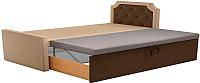 Двуспальная кровать Mebelico Севилья 30 / 59586 (микровельвет, бежевый/коричневый) -